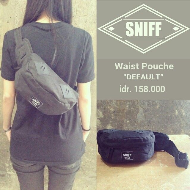 """SNIFF waist pouche """"DEFAULT"""" idr. 158k  For order text us/whatsapp to +628814016624 