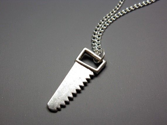 Hand Saw Necklace