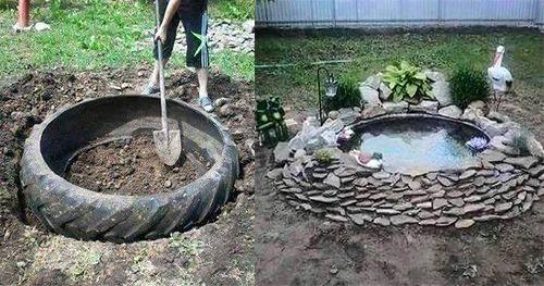 Kreativität kennt keine Grenzen. Und da jetzt immer schöneres Wetter werden müsste (diese Tage nicht mitgerechntet :P), können Sie schön im Garten arbeiten. Heute haben wir eine sehr schöne Idee für Sie für den Garten. Ein eigener Teich aus einem alten Reifen. Auf diese Weise machen Sie mit einem kleinen Budget doch einen schönen Teich. …