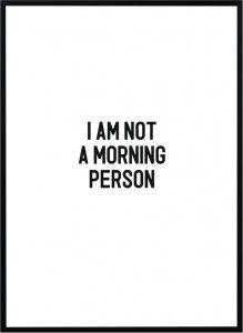 Plakat I am not - różne rozmiary