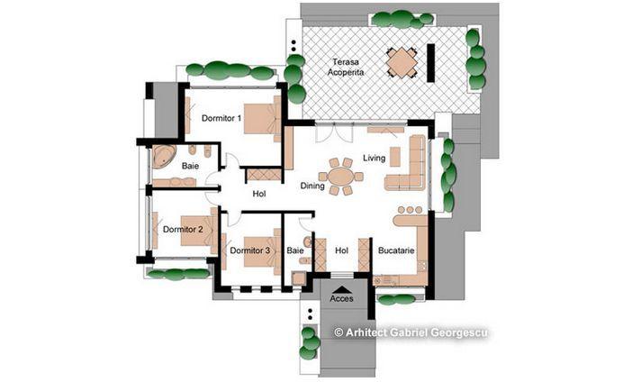 proiecte de case cu terase acoperite covered porch house plans 11