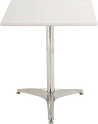 eleganter Metall-Tisch, mit Leder bezogen, 62 x 62 cm, Höhe 70 cm, FARBWAHL, mit verchromtem Fuß, ideal für die Gastronomie Jetzt bestellen unter: https://moebel.ladendirekt.de/kueche-und-esszimmer/tische/esstische/?uid=69dd4832-3114-57c1-a223-5f423b0135bd&utm_source=pinterest&utm_medium=pin&utm_campaign=boards #kueche #esstische #stehtische #esszimmer #tische