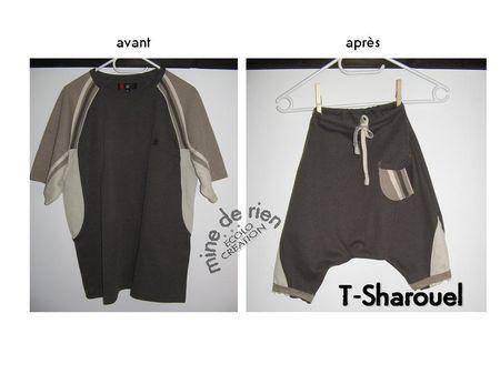 Tuto tranformation T-shirt en sarouel d'été ;-) ©Mine de rien
