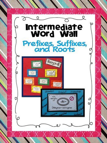 Common core aligned and includes 25 prefixes, 29 suffixes, and 24 root cards with picture cues, definition, and anchor word + 10 activities to ensure active engagement with your word wall as it grows! $