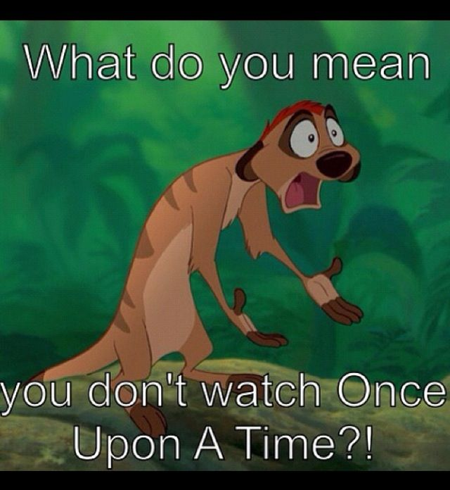 """Seriously! When I ask a fellow Disney addict if they watch Once Upon a Time and they say no I'm like """"What? Why not?"""" I love it because it's exactly like Disney with a little twist. They even kept the original names of the Seven Dwarfs! LOVE that show so much!"""