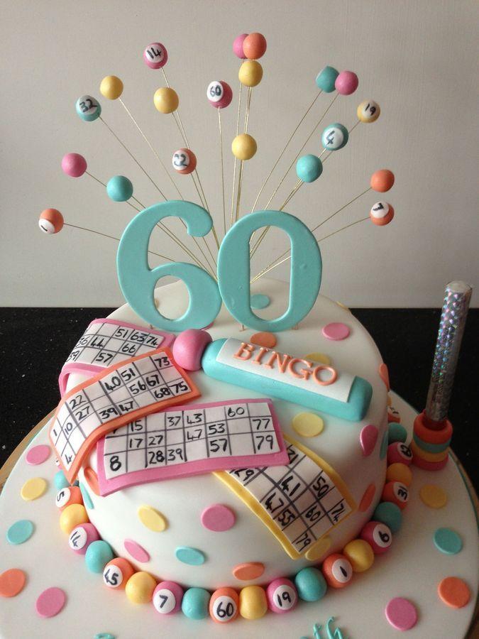 I so want to make this for my Nana's next birthday! The bingo queen!  Bingo cake — Birthday Cake Photos