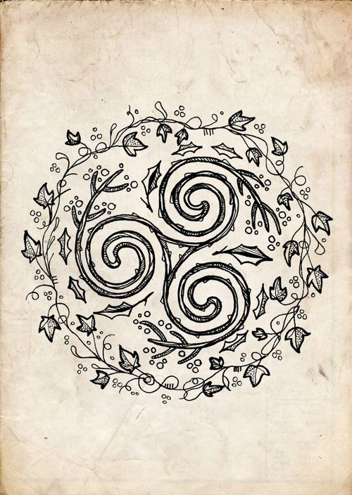 Imagem de celtic, dessin, and nature                              …