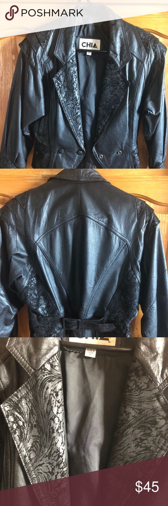 Women's Small Leather Jacket Women's Small Leather Jacket. 100% Leather Chia Brand Very nice Condition. & Other Stories Jackets & Coats Blazers