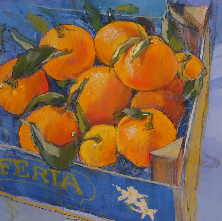Box of Clementines. Pastel.      Felicity House