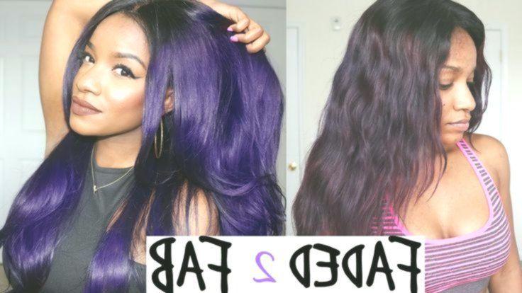 Justine Skye Color Routine Purple Hair Maintenance Retouch