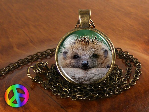 Hedgehog Pet Vintage Handmade Fashion Necklace Pendant Charm Jewelry Art Gift