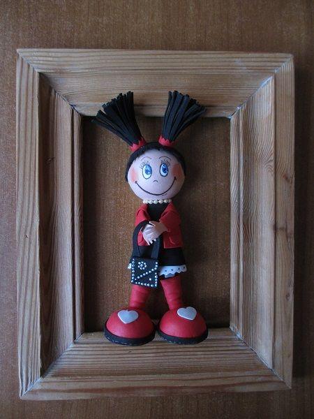 Кукла из фоамирана.