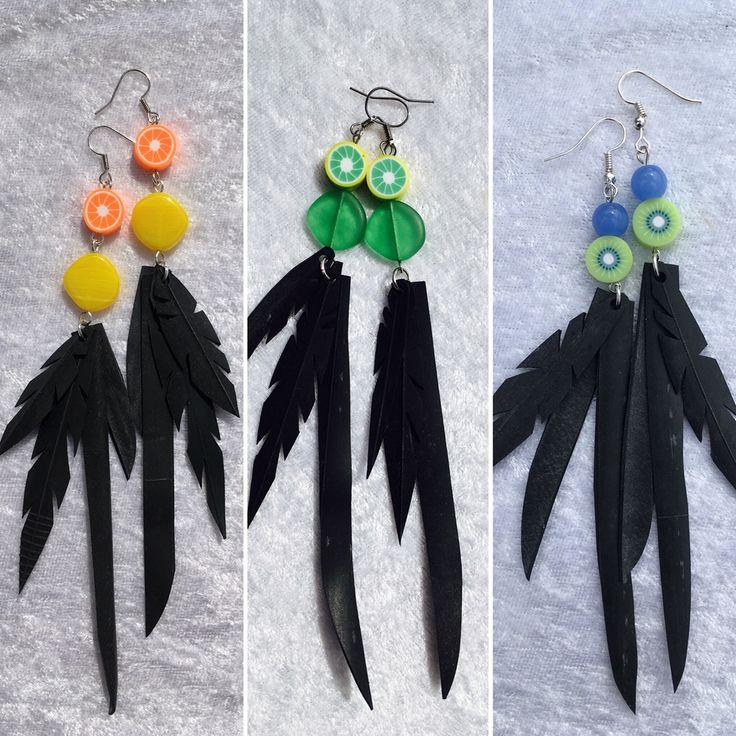 #innertube #earrings #jewelmaker #uniquedesignbymaria