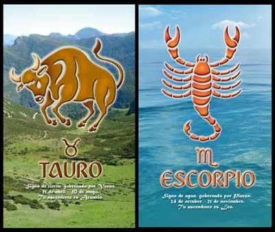 Taurus_Scorpio:- Taurus man and Scorpio woman both have different characteristics hence they get attracted to each other. Though they both have different personalities they have similar needs to fulfill. They both appreciate each other's positive qualities.
