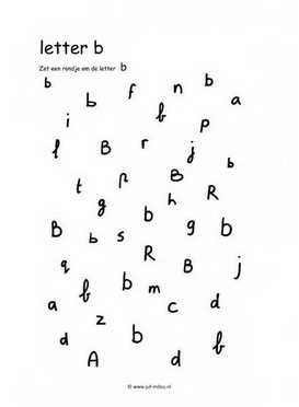 Leren lezen B zoeken