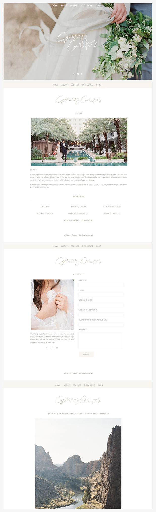 Gianny Campos Branding Website Design