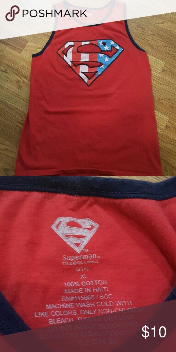 Superman Tank Good shape, hardly  worn superman Tank top. Shirts Tank Tops