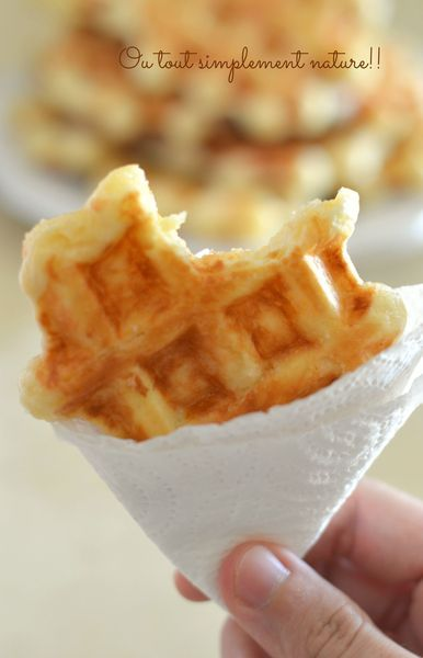 gaufre liegeoise nature