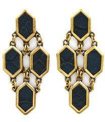 Beehive deco earrings