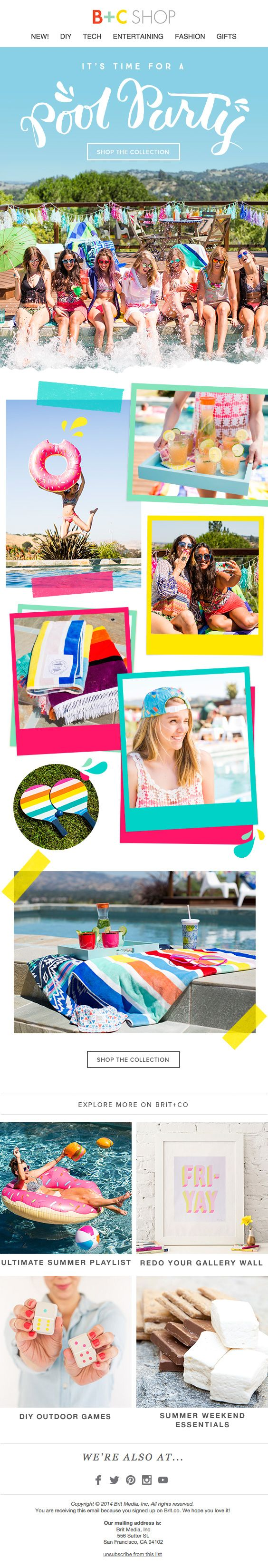 Summer Parties collection email design