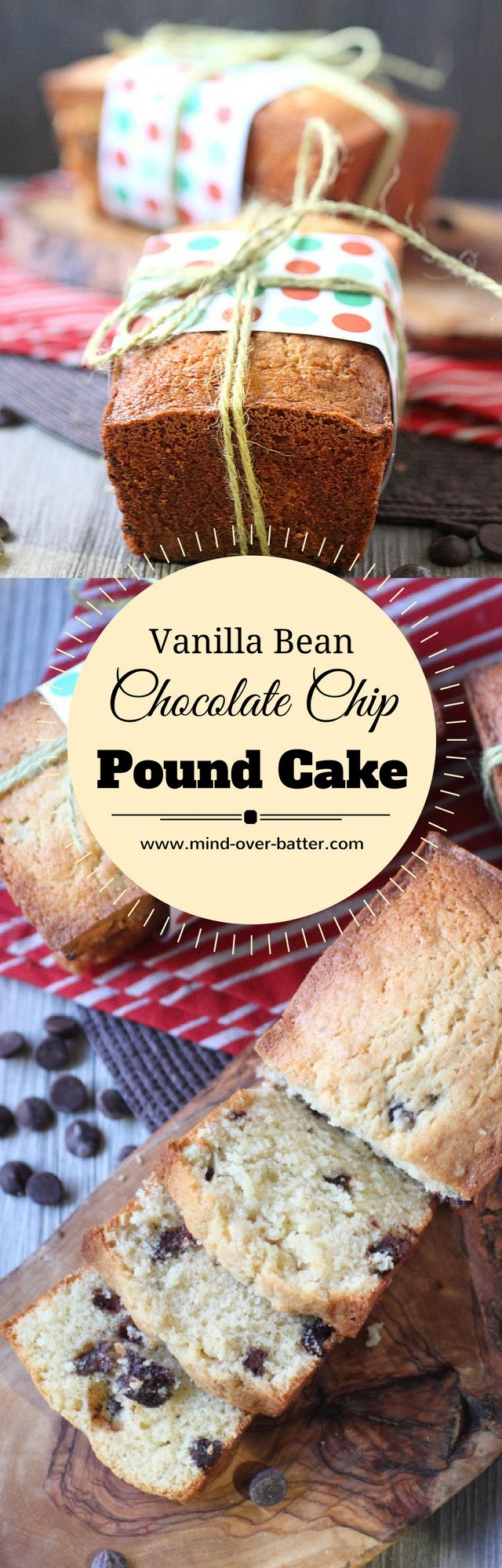 Vanilla Bean Chocolate Chip Cream Cheese Pound Cak…