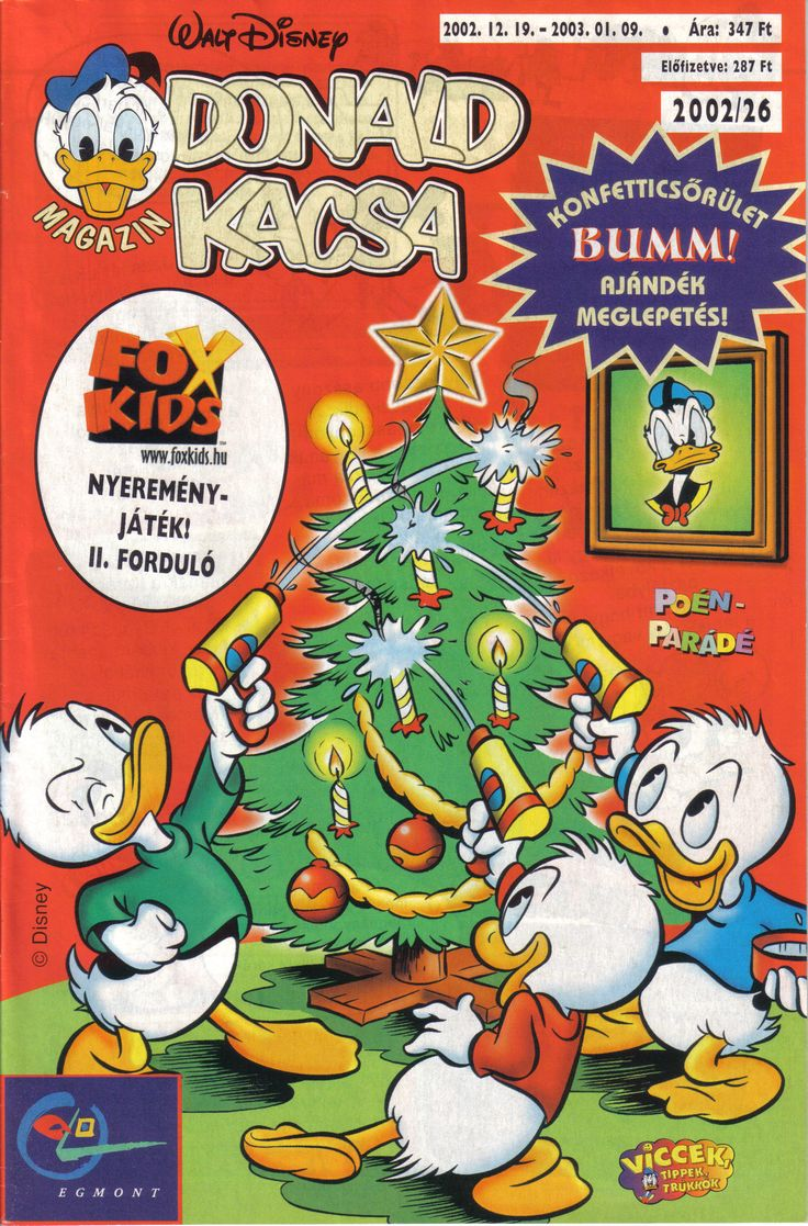 Hungary - Donald Kacsa (Hungarian) Scanned image of comic book (© Disney) cover