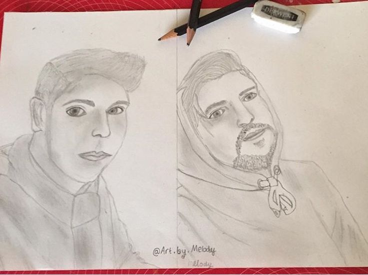 Fan art of Ben Phillips and Elliot Giles by @art.by.melody on Instagram