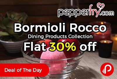 Pepperfry is offering Flat 30% off on Bormioli Rocco Dining Products Collection. Bowls, Trays & Platters, Cups & Saucers, Drinkware Included.   http://www.paisebachaoindia.com/bormioli-rocco-dining-products-collection-flat-30-off-pepperfry/