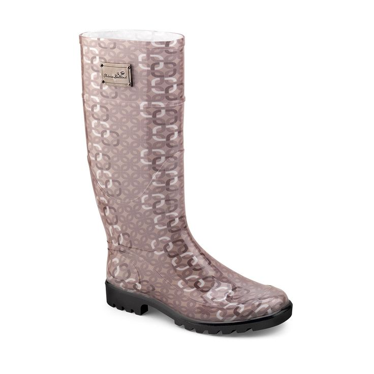 Classic Wellington boots in PVC with design texture