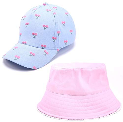 accsa Toddler Kid Girl UPF 30 Sun Protection Brim Summer Beach Straw Sunhat Fedora Panama