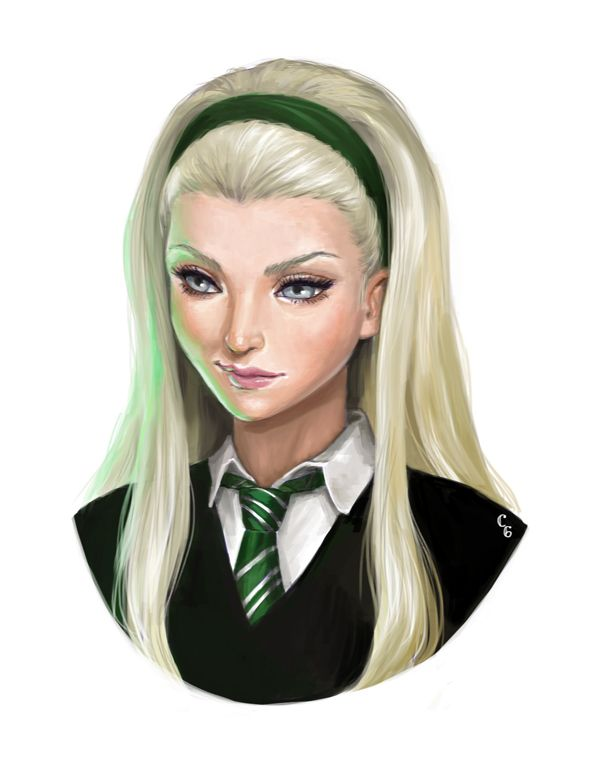 Harry Potter Slytherin Girls Female Malfoy b...