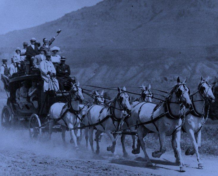 Old West Stagecoach Etiquette mandates 'spitting on the leeward side'