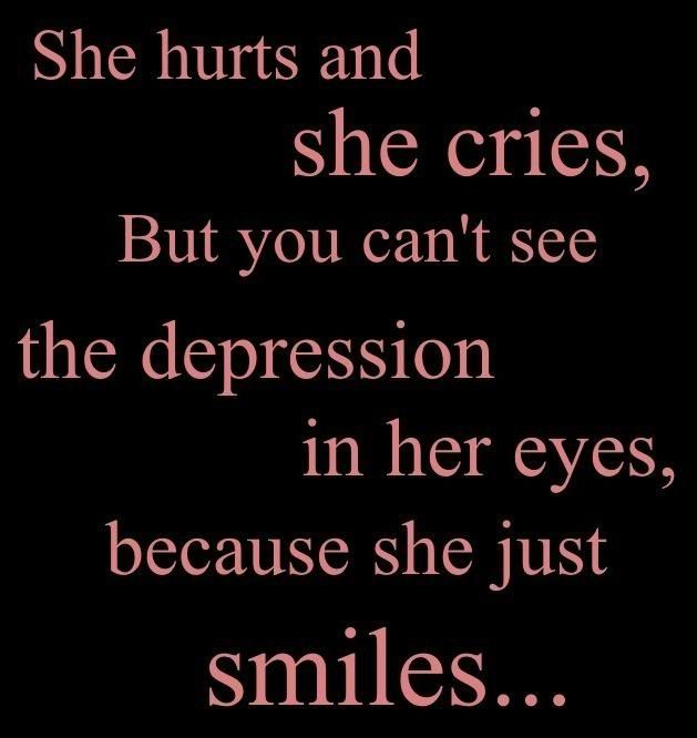 Maybe its not the right thing to just smile and ignore the pain and how hurt i am. But i cant show people im hurt even if my whole body is aching in pain i need to smile and look happy...