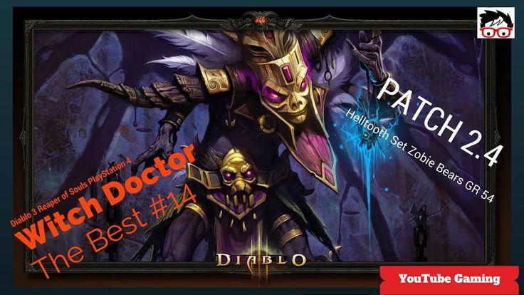 Diablo 3 patch 2.4 on PS4 Witch Doctor Helltooth Full Set Zombie Bears (... #Diablo3