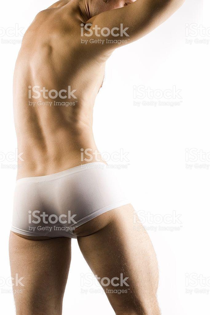 근육질의 숫나사 토르소 흰색 반바지 – royalty-free 스톡 사진