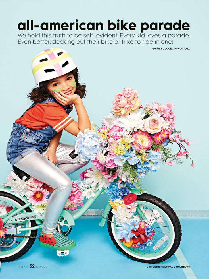"""""""all-american bike parade"""" from Parents, July 2017. Read it on the Texture app-unlimited access to 200+ top magazines."""