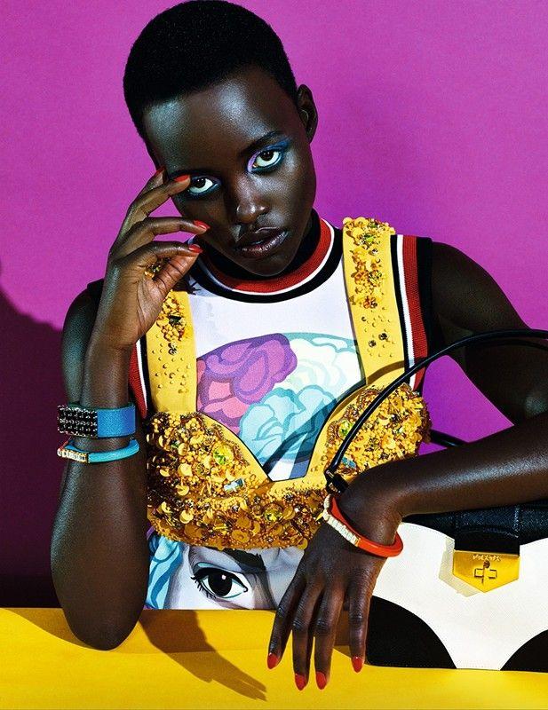 Lupita Nyong'o in Prada for Dazed & Confused Magazine