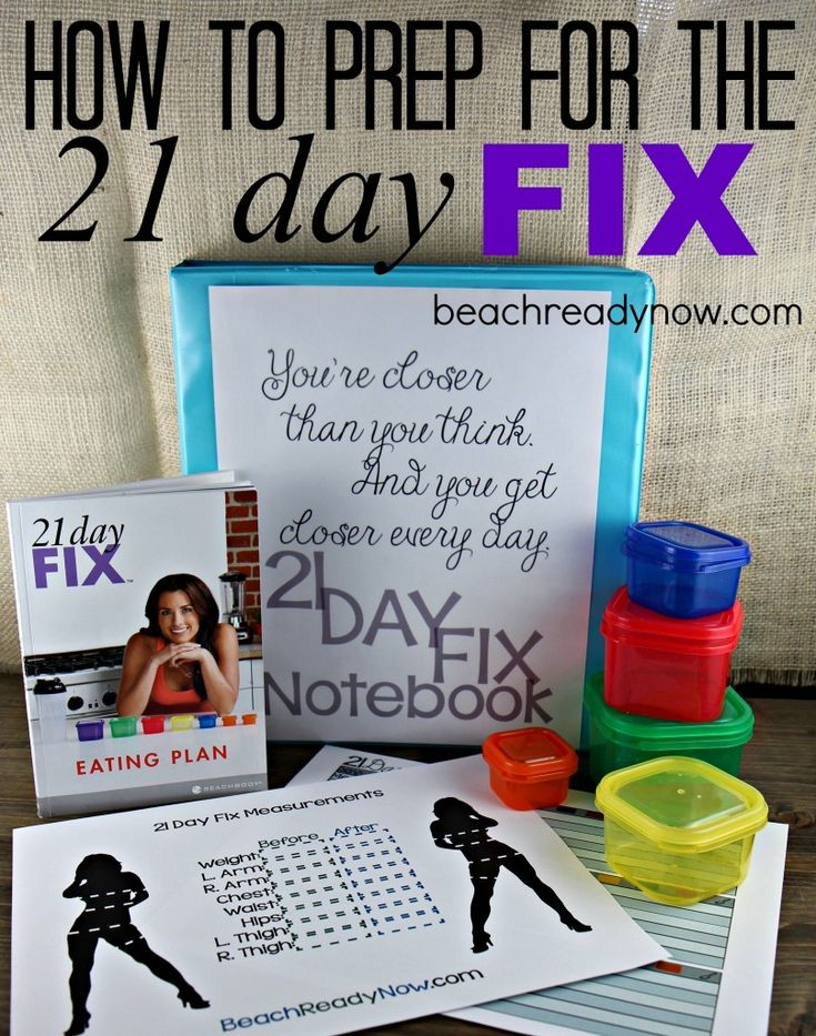 how to prep for the 21 day fix