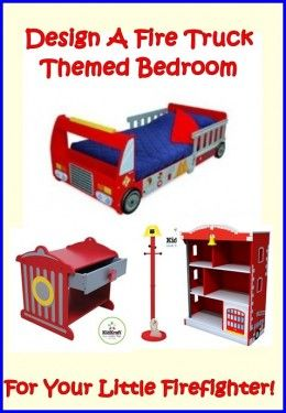 Design a fire truck themed bedroom for your little firefighter using some of the great Fire Truck accessories from KidKraft, choose a bed and complement it with a range of furniture and then choose a bedding set to complete the look. This article shows you how to achieve a little boy's dream bedroom so check it out today.