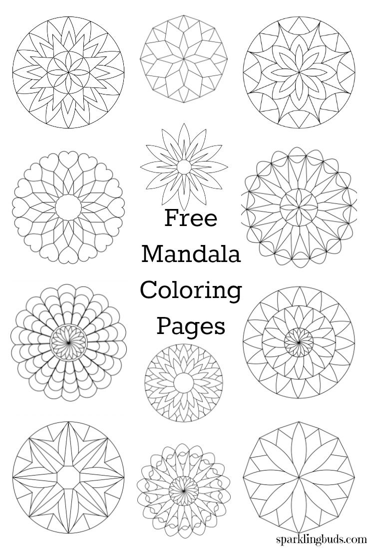 Free coloring pages to print and color - Free Mandala Coloring Pages To Print And Color They Are Suitable For Both Kids And