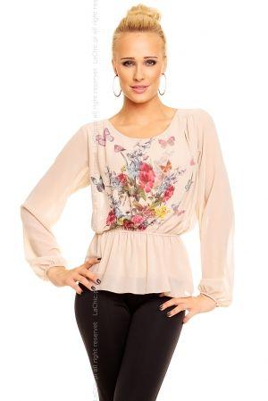 Bluzeczka Moda Flower 10774 BEŻOWA