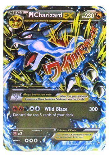 pokemon cards mega charizard ex blue