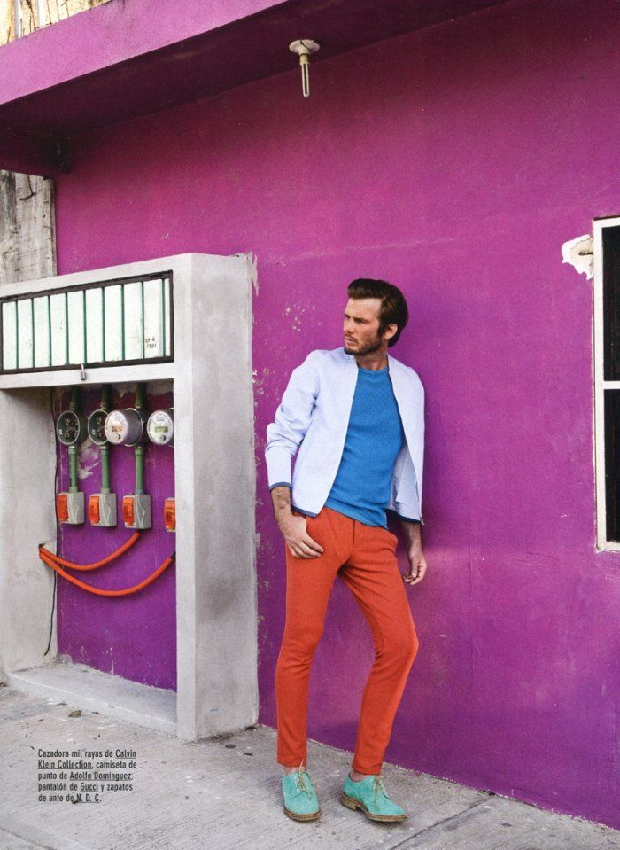 Nico Malleville Dons Bright Colors for GQ Spain