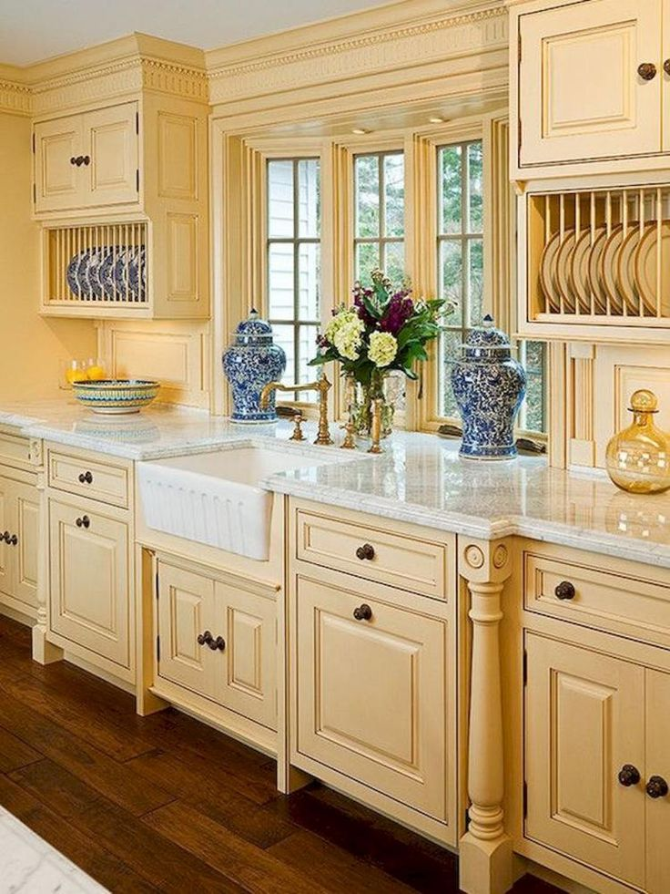 78 fantastic french country kitchen design ideas in 2020 french country kitchen cabinets on kitchen remodel french country id=70497