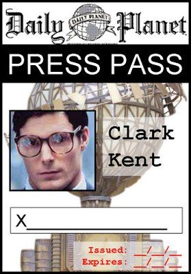 graphic relating to Lois Lane Press Pass Printable named Lois Lane Push Badge