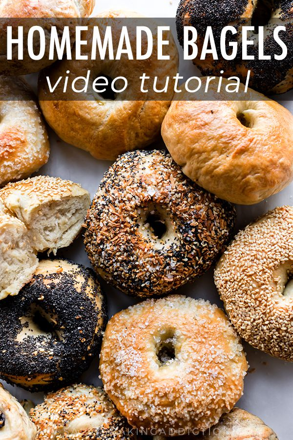 This Easy Homemade Bagel Recipe Proves That You Can Make Deliciously Chewy Bagels In Your Own Kitchen With Only Homemade Bagels Bagel Recipe Bagel Recipe Easy