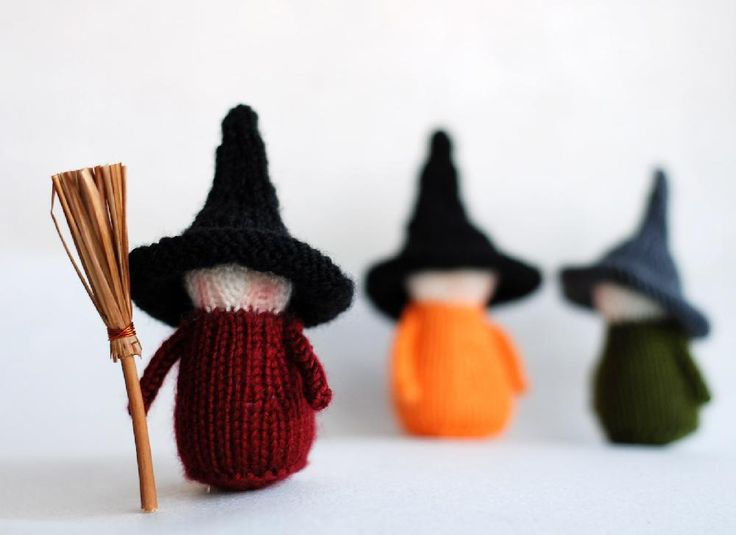 Waldorf Halloween Witches knitting pattern by DenizasToysJoys - Available at LoveKnitting