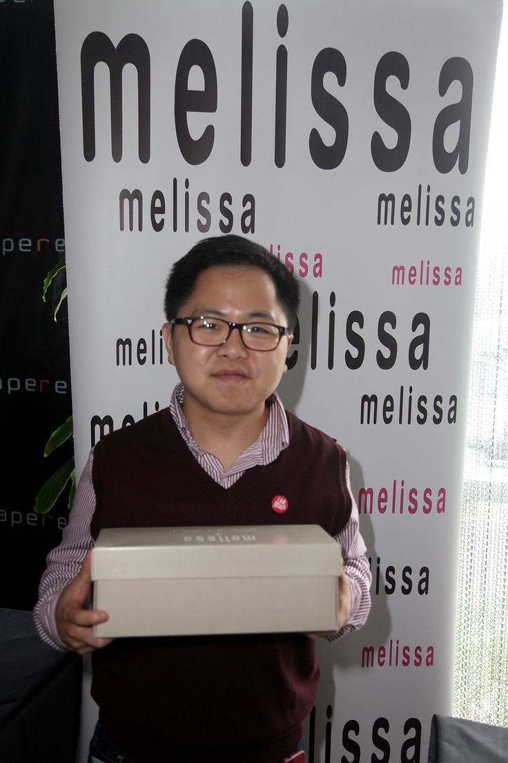 Actor Matthew Moy picking out some Melissa flats for his girlfriend at the Pre-Emmy Style Lounge! What a guy!