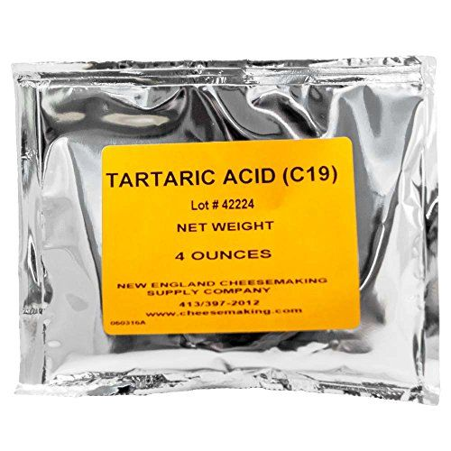 Tartaric Acid - 4oz.:   Tartaric Acid is used for making Mascarpone, an Italian soft cheese which is made from cream and has a rich velvety texture with a sweet delicate flavor. Mascarpone is used as a cream with fruit and cakes as well as in many dessert recipes.