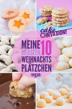 Cake Invasion - Meine 10 liebsten veganen Weihnachts-Plätzchen